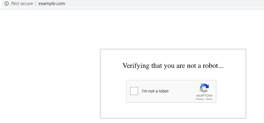 !reCAPTCHA verification