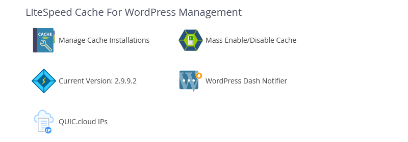 "!WHM Plugin ""LiteSpeed Cache For WordPress Management"" Section"